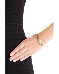 Marc By Marc Jacobs | Metallic Logo Bracelet - Gold | Lyst