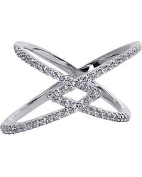 Carat* | Metallic Orion Millennium White Gold Finish Ring | Lyst