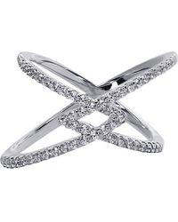 Carat* | Metallic Orion Millennium White Gold Finish Ring | Lyst