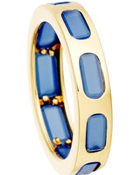 Astley Clarke | Metallic 18ct Gold Vermeil Blue Agate Slice Ring - For Women | Lyst