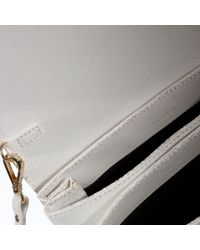 Zara Cracked Leather Messenger Bag In White Lyst