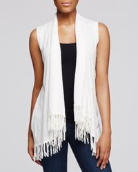 Aqua | White Vest With Fringe Hem | Lyst