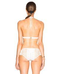 La Perla | White Ethno Soutache Bikini Top | Lyst