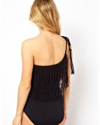 Seafolly | Black Jazz Club Asymmetrical Swimsuit | Lyst