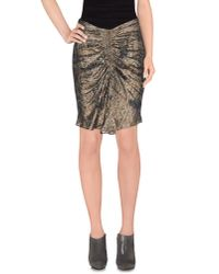 Isabel Marant - Brown Knee Length Skirt - Lyst