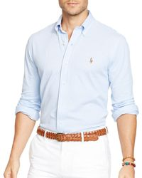 Ralph Lauren | White Polo Oxford Shirt - Slim Fit for Men | Lyst