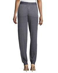 Stella McCartney - Gray Relaxed-leg Geo-print Trousers - Lyst