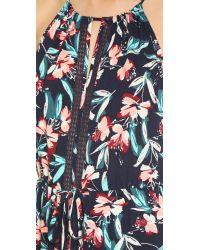 Ella Moss | Blue Floral-print Sleeveless Maxi Dress | Lyst