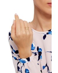 Noor Fares - Metallic Gold Geometry 101 Rhombus Pinkie Ring - Lyst