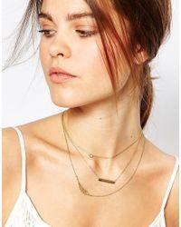 Orelia - Metallic Relia Memento Layering Necklaces - Lyst