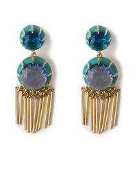 Lele Sadoughi | Crystal Fringe Earrings, Atlantic Blue | Lyst