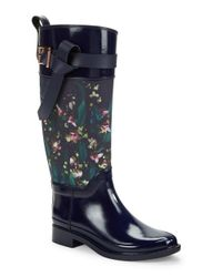 Ted Baker | Blue Hampto Knee-high Rubber Boots | Lyst
