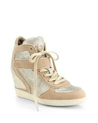 Ash | Brendy Glitter Wedge Sneakers | Lyst