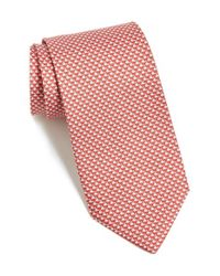 Ferragamo - Red Rhino Printed Tie for Men - Lyst