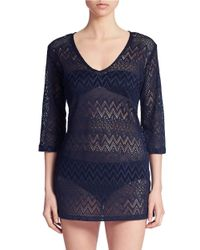 J Valdi | Blue Crochet Swim Tunic | Lyst