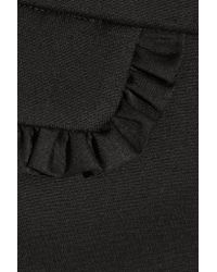 Paul & Joe - Black Defile Zabor Ruffle-trimmed Stretch-cady Mini Skirt - Lyst