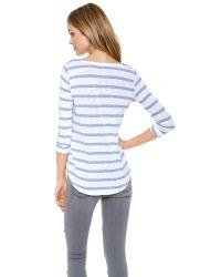Splendid | Blue Canyon Stripe Top | Lyst