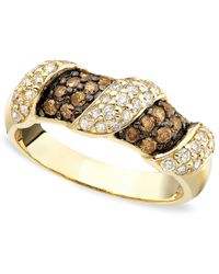 Le Vian - Brown Chocolate And White Diamond Stripe Band (3/4 Ct. T.W.) In 14K Gold - Lyst