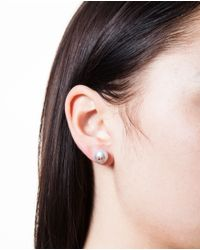 Carolina Bucci - Gray Pearl And Small Star Stud Earring - Lyst