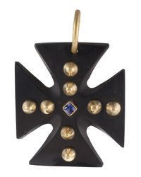 Ashley Pittman - Black Jioni Cross Pendant - Lyst