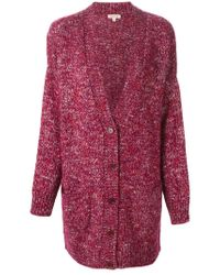 P.A.R.O.S.H. - Pink Knitted Long Cardigan - Lyst