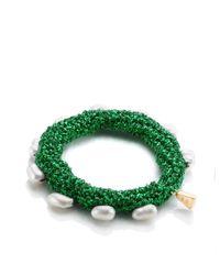 Lucy Folk | Green Midori Crochet Pearly Bracelet | Lyst