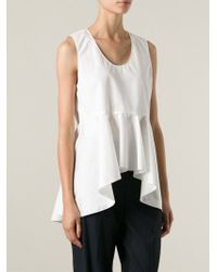 Chloé   White Flared Top   Lyst