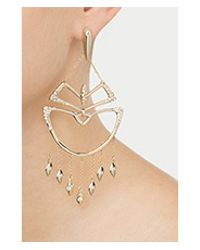 Alexis Bittar | Metallic Kinetic Crystal Encrusted Chandelier Earrings - Gold | Lyst