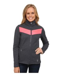 Spyder - Gray Divine Mid Weight Core Sweater - Lyst