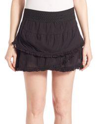 Generation Love Black Lillian Fringe Skirt