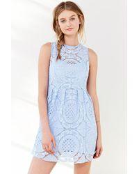 Kimchi Blue | Blue Medallion Fit + Flare Dress | Lyst