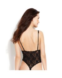 Hanky Panky - Black After Midnight Open Panel Teddy 488406 - Lyst