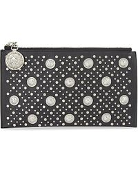 Versus - Black Studded Leather Pouch - Lyst