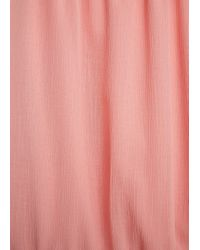 Mango - Pink Spaghetti Strap Dress - Lyst