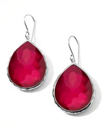Ippolita - Red Raspberry Doublet Drop Earrings - Lyst