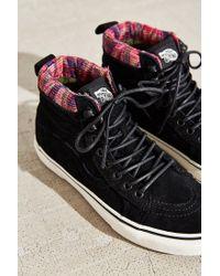 Vans - Black Sk8-hi Woven Chevron Mte Sneaker - Lyst