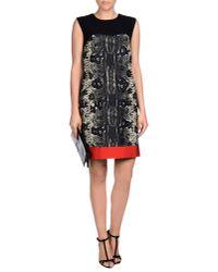 Giambattista Valli - Black Snake-print Wool-blend Dress - Lyst