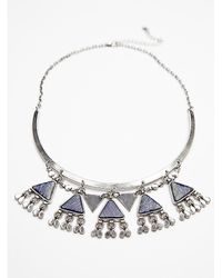 Free People | Metallic Womens Cai Collar | Lyst