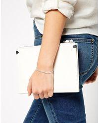 ASOS - Metallic Sterling Silver Hammered Cuff Bracelet - Lyst