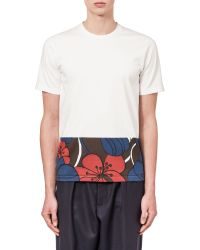 Marni | White T-shirt In Jersey Pimpernel Print | Lyst