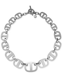 Michael Kors - Metallic Silver-Tone Maritime Link Statement Necklace - Lyst