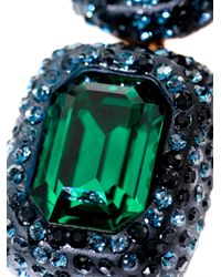 Oscar de la Renta - Green Crystal Stone Necklace - Lyst
