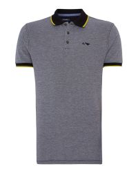 Armani Jeans - Black Regular Fit Tipped Oxford Polo Shirt for Men - Lyst