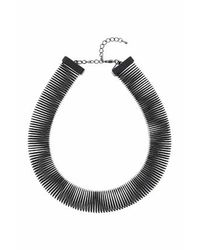 TOPSHOP - Black Square Spring Necklace - Lyst