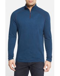 Agave | Blue Long Sleeve Terry Pullover for Men | Lyst