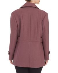 Kenneth Cole Reaction   Purple Double Breasted Peacoat   Lyst