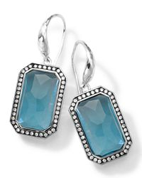 Ippolita | Sterling Silver Stella London Blue Topaz Earrings With Diamonds | Lyst