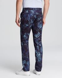 Paul Smith - Blue Ps Indigo Palm Print Trousers - Regular Fit for Men - Lyst