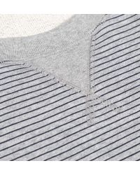 Sunspel | Gray Women's Loopback Cotton Sweatshirt With Printed Stripe | Lyst