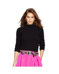 Polo Ralph Lauren - Black Ribbed Wool-cashmere Sweater - Lyst